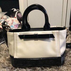 White and black Kate Spade purse